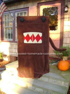 Homemade Domo Halloween Costume