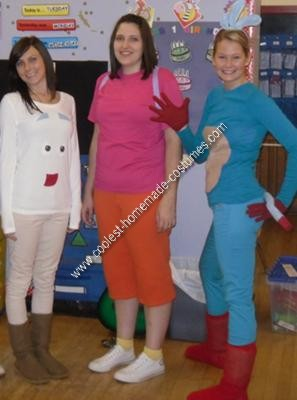 Homemade Dora the Explorer and Friends Group Costume