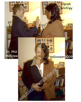 Homemade Dr. Phil and Oprah Costume