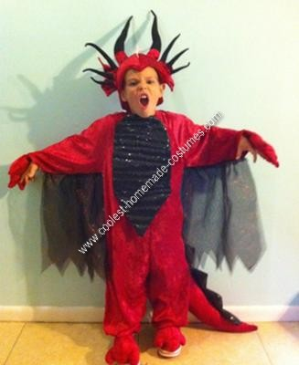 Homemade Dragon Child Halloween Costume Idea