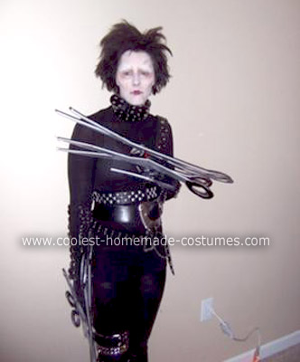 Homemade Edward Scissorhands Halloween Costume