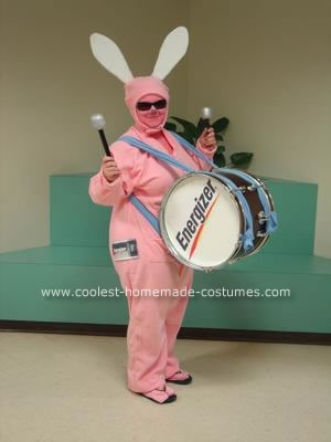Homemade Energizer Bunny Costume