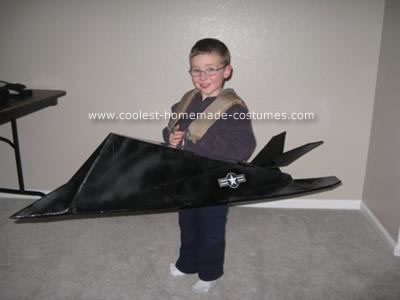 Homemade F-117 Stealth Fighter Costume