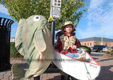 Homemade Fisherman and Fish Costumes