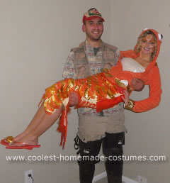 Homemade Fisherman and his Catch Couple Halloween Costume Idea