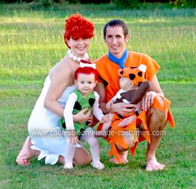 Homemade Flintstones Family Costume