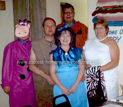 Homemade Flintstones Family Halloween Costume
