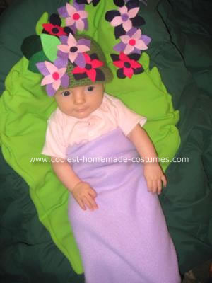 Homemade Flower Bud Costume