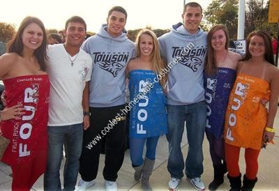 Homemade Four Loko Group Halloween Costume