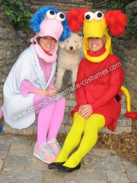 Homemade Fraggle Rock Couple Costumes