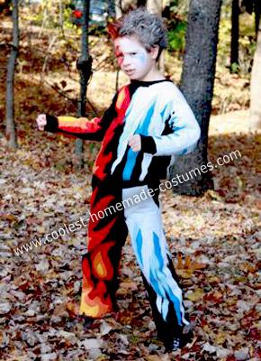Homemade Freeze Flame Child Costume