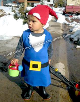 Homemade Garden Gnome Boy Costume