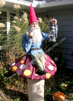 Homemade Garden Gnome on Toadstool Costume