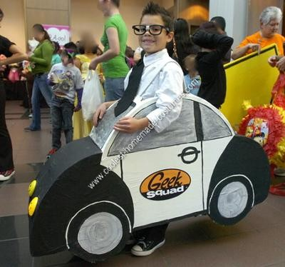 Homemade Geek Squad Halloween Costume