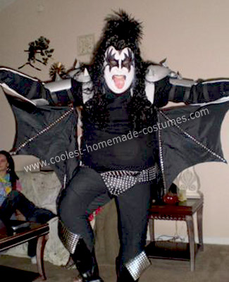 Homemade Gene Simmons and Kiss Group Costumes