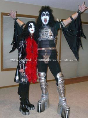 Homemade Gene Simmons and Paul Stanley of KISS Costumes