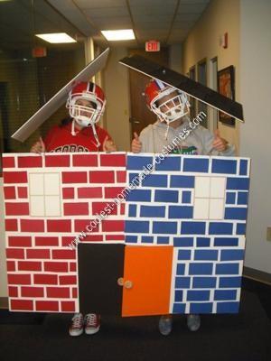 Homemade Georgia Florida House Divided Couple Costume Idea