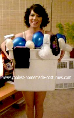 Homemade Girl in a Tub Costume