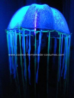 Homemade Glowing Jellyfish Costume