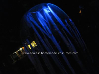 Homemade Glowing Jellyfish Costume