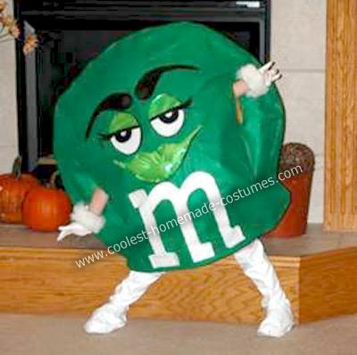 Homemade Green M&M Costume