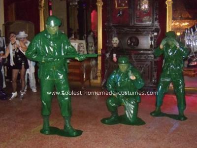 Homemade Green Plastic Army Men Costumes