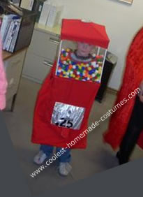 Homemade Gumball Machine Costume
