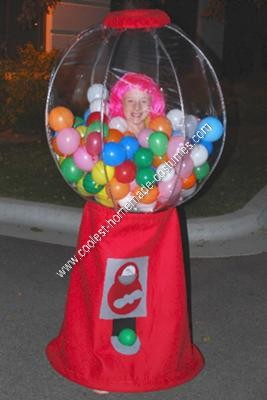 Homemade Gumball Machine Halloween Costume Idea