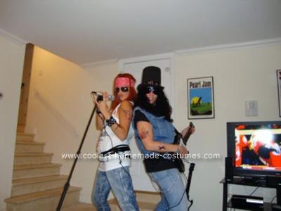 Homemade Guns 'N' Roses Couple Costume
