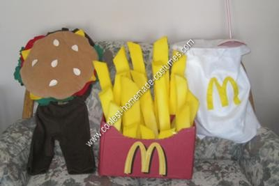 Homemade Happy Meal Triplets Halloween Costume Ideas