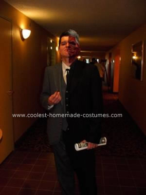 Homemade Harvey Dent Two Face Halloween Costume