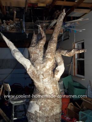 Homemade Haunted Tree Costume