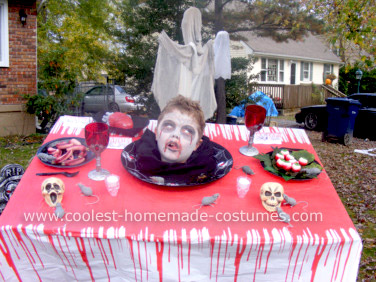 Homemade Head on a Platter Costume