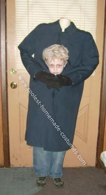 Homemade Headless Boy Costume