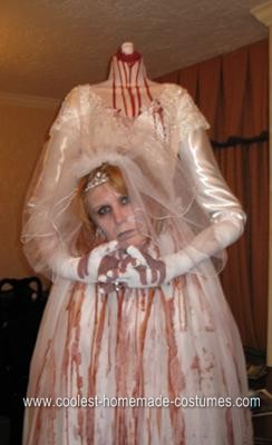Homemade Headless Bride Halloween Costume