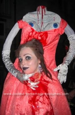 Homemade Headless Marie Antoinette Halloween Costume
