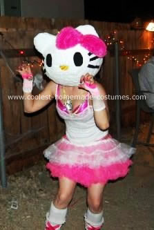 Homemade Hello Kitty Costume