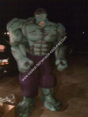 Homemade Hulk Unique Halloween Costume Idea