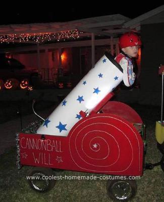 Homemade Human Cannonball Costume