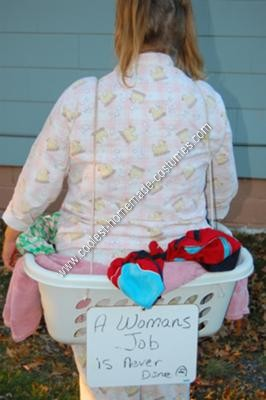 Homemade Human Laundry Basket Adult Halloween Costume Idea