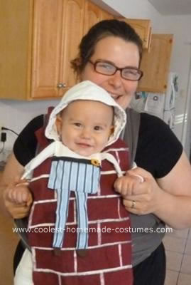 Homemade Humpty Dumpty Baby Halloween Costume Idea