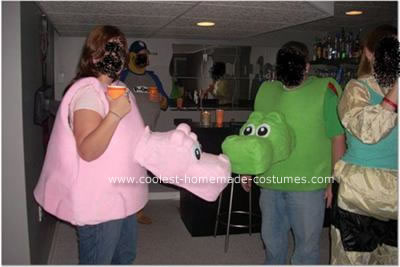 Homemade Hungry Hungry Hippos Costume