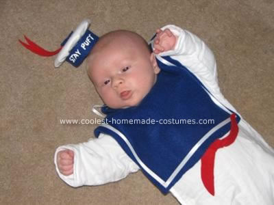 Homemade Infant Stay Puft Marshmallow Man Costume