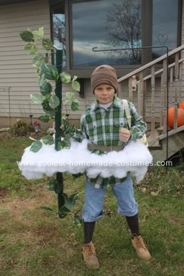 Homemade Jack and the Beanstalk Costume