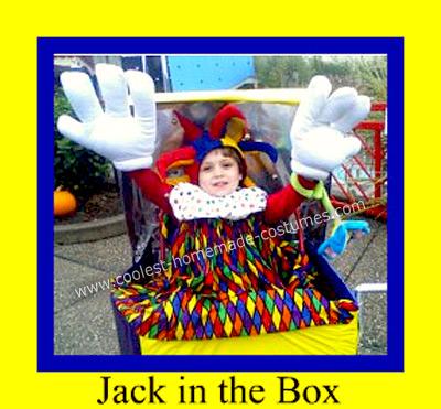 Homemade Jack in a Box Halloween Costume