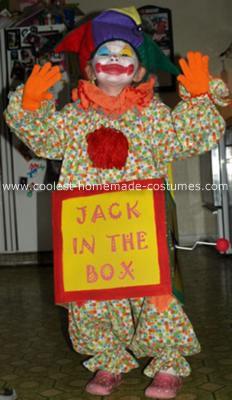 Homemade Jack in the Box Child Halloween Costume