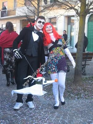 Homemade Jack Skellington and Sally Costumes
