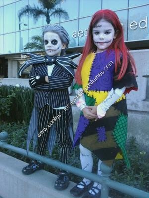 Homemade Jack Skellington and Sally Halloween Couple Costume Idea