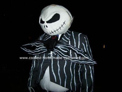 Homemade Jack Skellington Halloween Costume