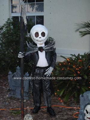 Homemade Jack Skellington Halloween Costume